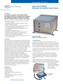 Pall PCM200 Fluid Cleanliness Monitor (French)