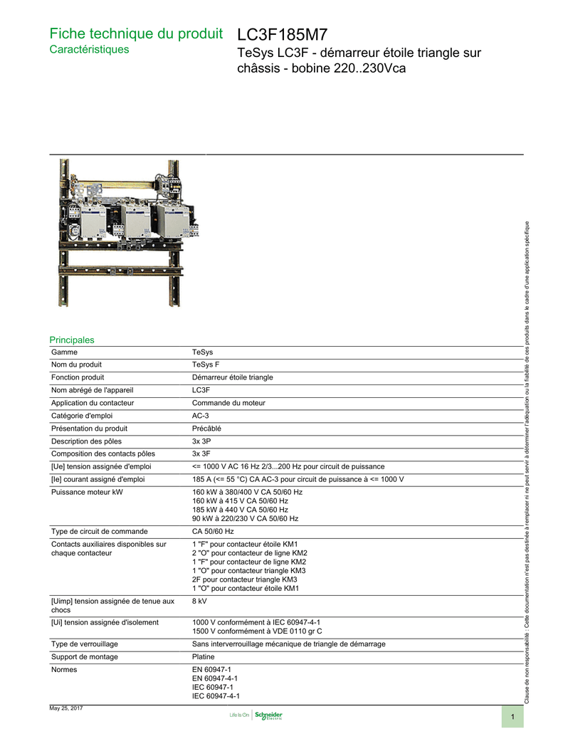 Lc3f185m7 Schneider Electric