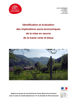 Identification et évaluation des implications socio
