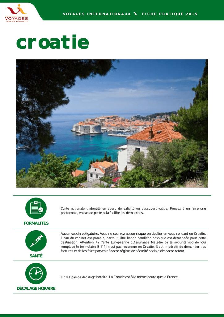 Croatie Carte Identite.Croatie Access Web