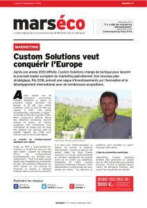 Custom Solutions veut conquérir l`Europe