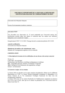 Licence Environnements insulaires océaniens