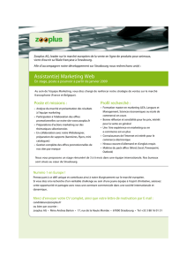 Assistant(e) Marketing Web
