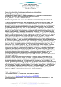 Paper of the Month #13 - Fondation pour la Sécurité des Patients