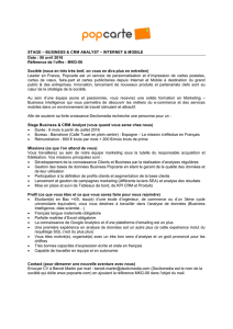 Stagiaire Data Analyst Popcarte