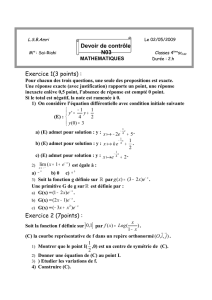 EEXERCICE N°1(5points)
