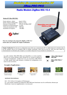 Modules de communication RF XBee-PRO PKG