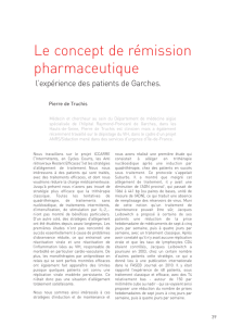 Le concept de rémission pharmaceutique