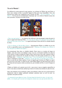 14.06.28- Homélie-Tu es le Messie - Paroisse Saints Pierre et Paul