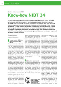 Know-how NIBT 34