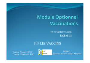 Module Optionnel Vaccinations