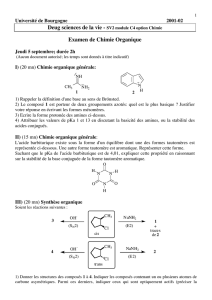Examen de Chimie Organique