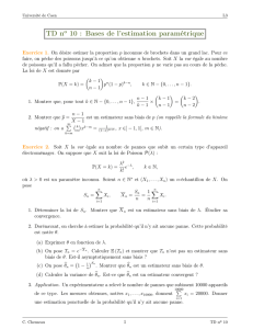 TD no 10 : Bases de l`estimation paramétrique