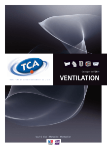 ventilation - Transfert et conditionnement de l`air