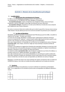 Chapitre1 act2 la classification periodique de mendeleiev eleves