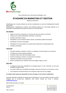 stagiaire en marketing et gestion