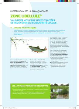 zone libellule - Solutions for Water platform