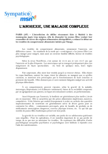 L`anorexie, une maladie complexe