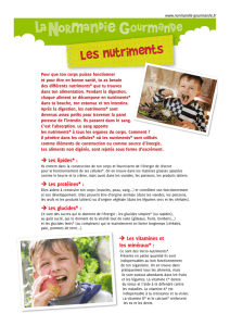 Les nutriments - La Normandie Gourmande