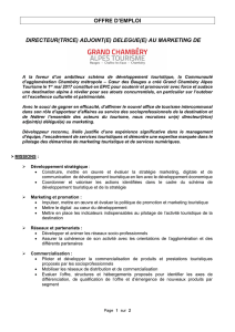 offre d`emploi directeur(trice) adjoint(e) delegue(e) au marketing de