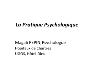 La Pratique Psychologique