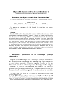 Physical Relations or Functional Relations1 - Philsci