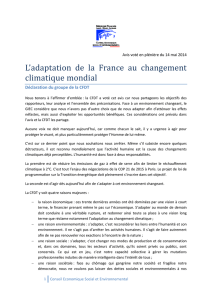 L`adaptation de la France au changement climatique mondial