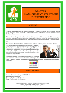 MASTER MANAGEMENT STRATEGIE D`ENTREPRISE