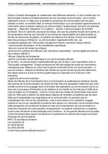 Communication organisationnelle - comunicazione