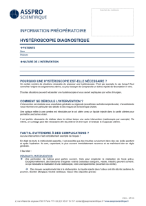 Hysteroscopie diagnostique - Dr Daher
