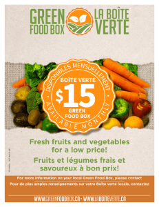 Fresh fruits and vegetables for a low price! Fruits et légumes frais et