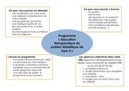 Programme « Education thérapeutique du patient diabétique de