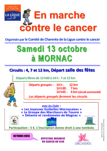 En marche contre le cancer
