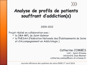 Analyse de profils de patients souffrant d`addiction