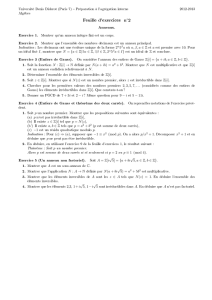 Feuille d`exercices n  2