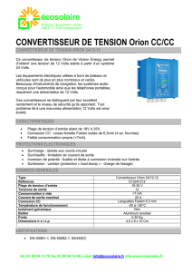 CONVERTISSEUR DE TENSION Orion CC/CC