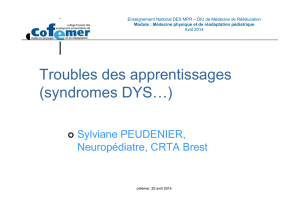 Troubles des apprentissages