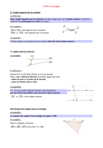 cours angles