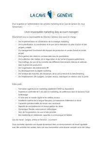 Un/e responsable marketing (key account manager)