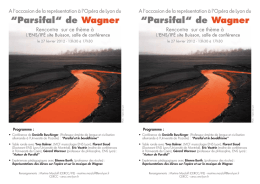 """Parsifal"" de Wagner - CERCC"