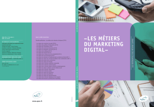 les métiers du marketing digital - Catalogue en ligne Centre de