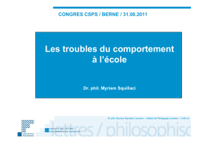 Les troubles du comportements