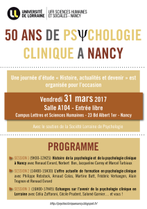 50 ans de ps chologie clinique a nancy