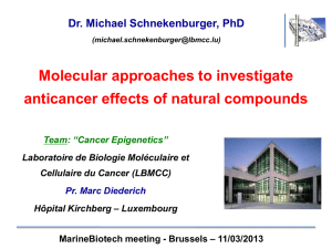 Molecular approaches to investiate anticancer effects of natural