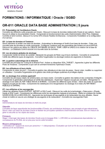 FORMATIONS / INFORMATIQUE / Oracle / SGBD OR-011