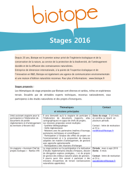 Stages 2016