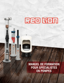 Training Manual (FR) - Red Lion Pump Products