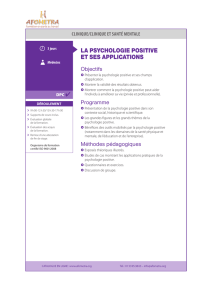 la psychologie positive et ses applications