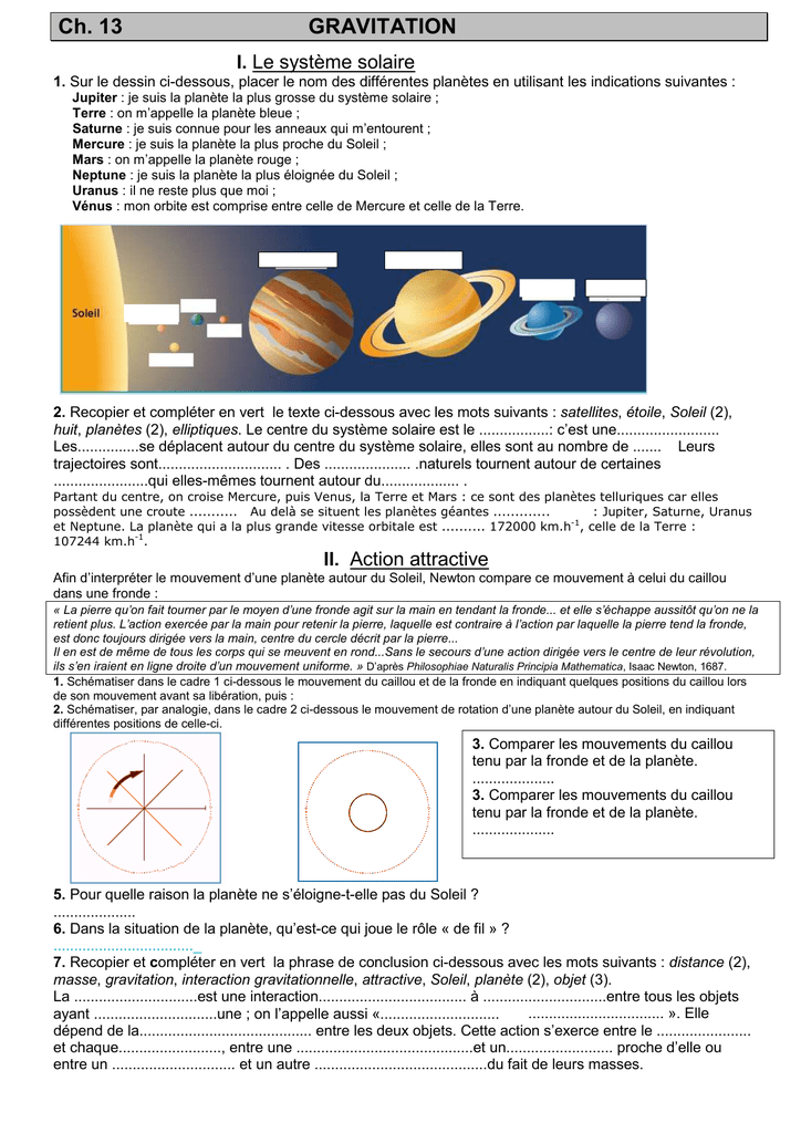 Ch 13 Gravitation