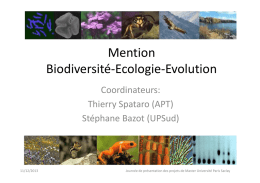 Mention Biodiversité-Ecologie